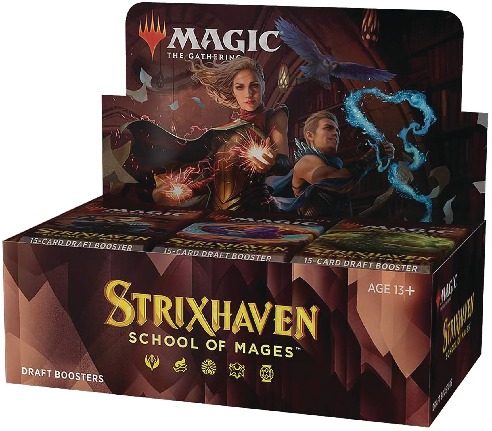 STRIXHAVEN: SCHOOL OF MAGIC - BOX 36 BUSTE PER DRAFT + PROMO BAB - INGLESE
