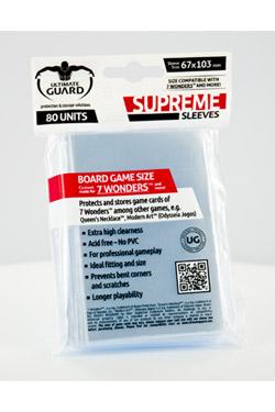 SUPREME SLEEVES BOARD GAME 7 WONDERS 80 (67X103)