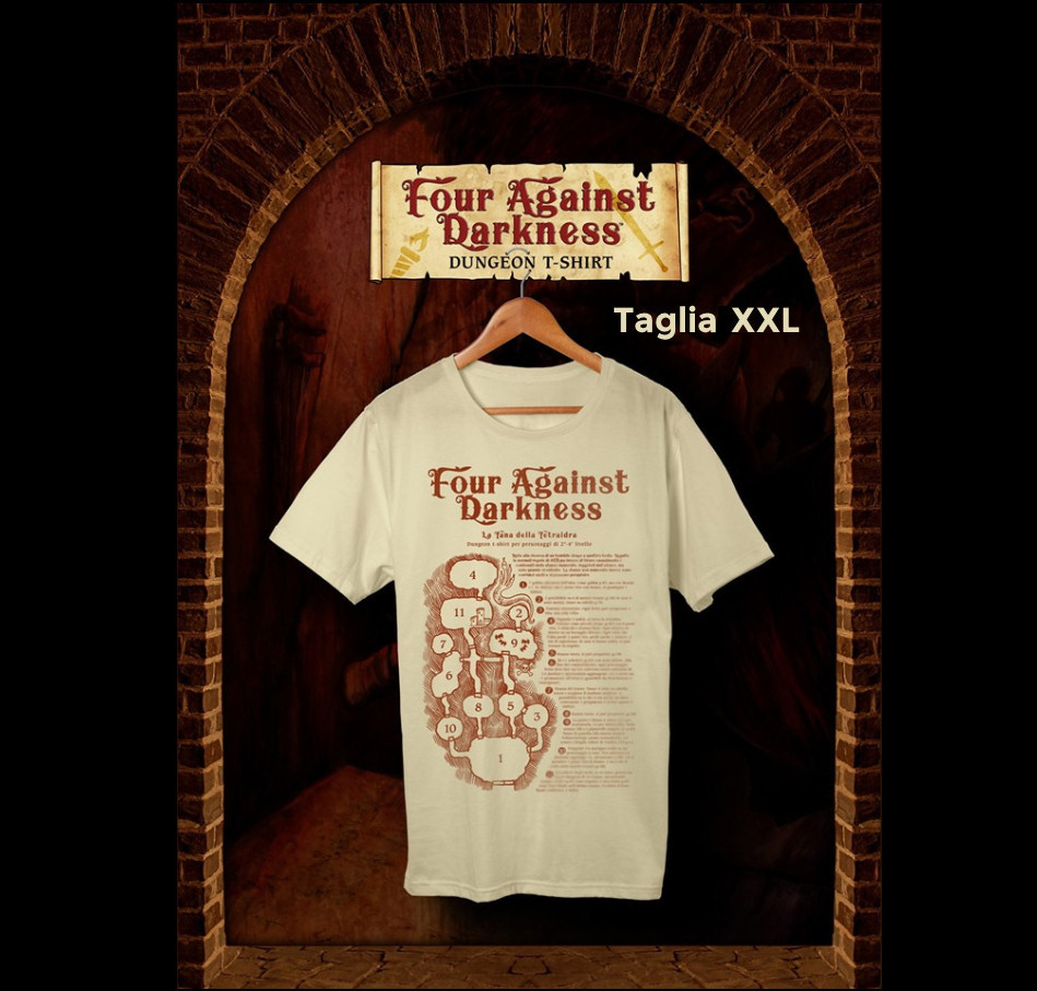 FOUR AGAINST DARKNESS - DUNGEON T-SHIRT - TAGLIA XXL