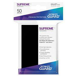 UGD SUPREME UX SLEEVES STANDARD SIZE - BLACK (50)