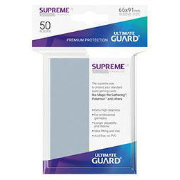 UGD SUPREME UX SLEEVES STANDARD SIZE - TRANSPARENT (50)