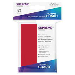 UGD SUPREME UX SLEEVES STANDARD SIZE - RED (50)