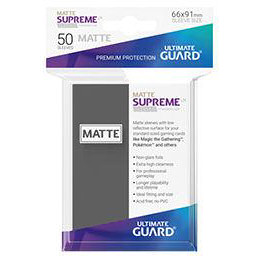 UGD SUPREME UX SLEEVES STANDARD SIZE - MATTE DARK GREY (50)