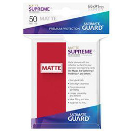 UGD SUPREME UX SLEEVES STANDARD SIZE - MATTE RED (50)