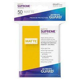 UGD SUPREME UX SLEEVES STANDARD SIZE - MATTE YELLOW (50)