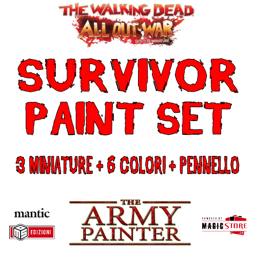 TWD - THE ARMY PAINTER SURVIVOR PAINT SET - ACCESSORI - GIOCO DI MINIATURE