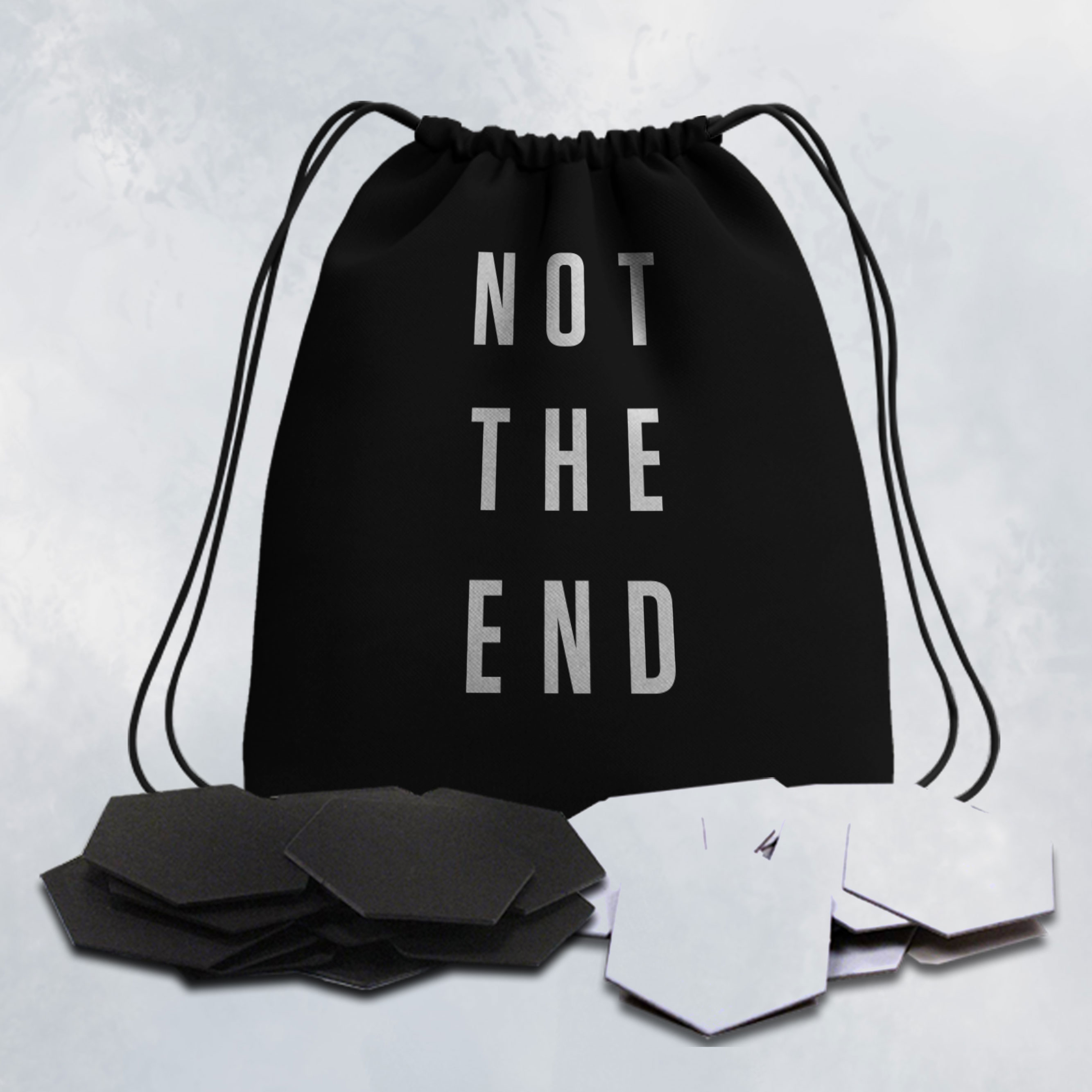 NOT THE END - TOKEN ESAGONALI + SACCHETTO