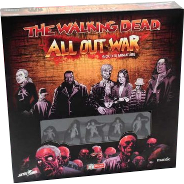 THE WALKING DEAD - GIOCO DI MINIATURE - ALL OUT WAR - SCATOLA BASE