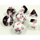 30043 GEMINI POLYHEDRAL BLACK-WHITE/PINK 7-DADI SET – LAB DICE 4