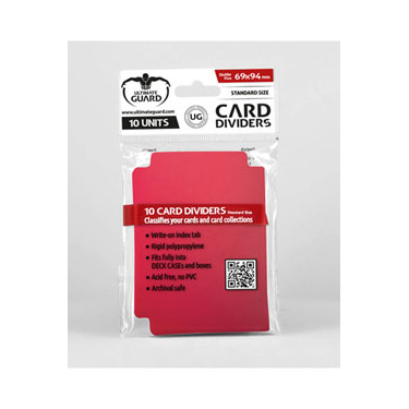 CARD DIVIDERS STANDARD SIZE - RED (10)