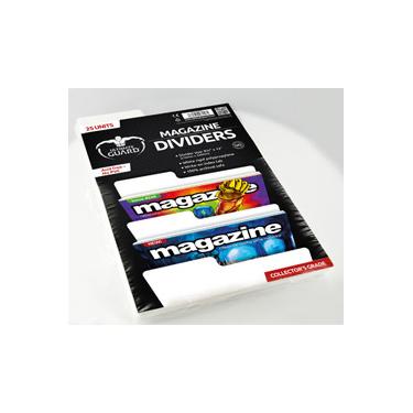 25 MAGAZINE DIVIDERS WHITE 21,6 X 33 CM