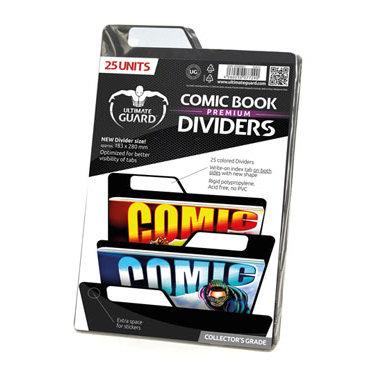 25 PREMIUM COMIC BOOK DIVIDERS BLACK 18,3 X 28 CM
