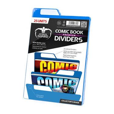 25 PREMIUM COMIC BOOK DIVIDERS BLUE 18,3 X 28 CM